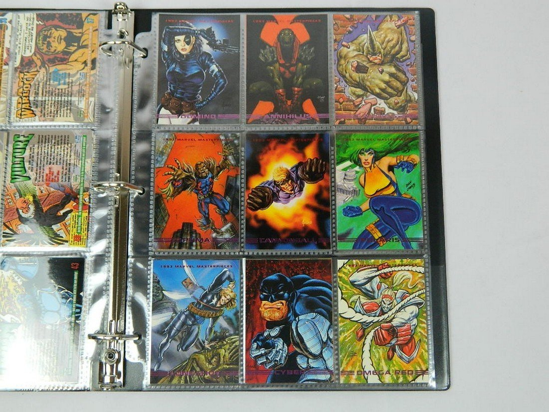 1993 Marvel Masterpieces Card Complete Set - 6