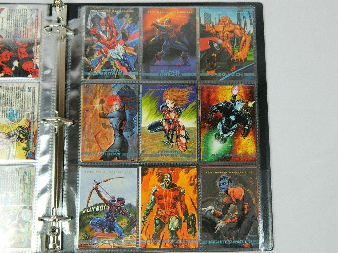 1993 Marvel Masterpieces Card Complete Set - 8