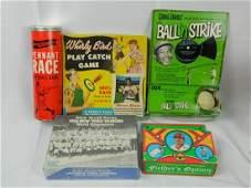 Lot of Vintage Baseball Board Games