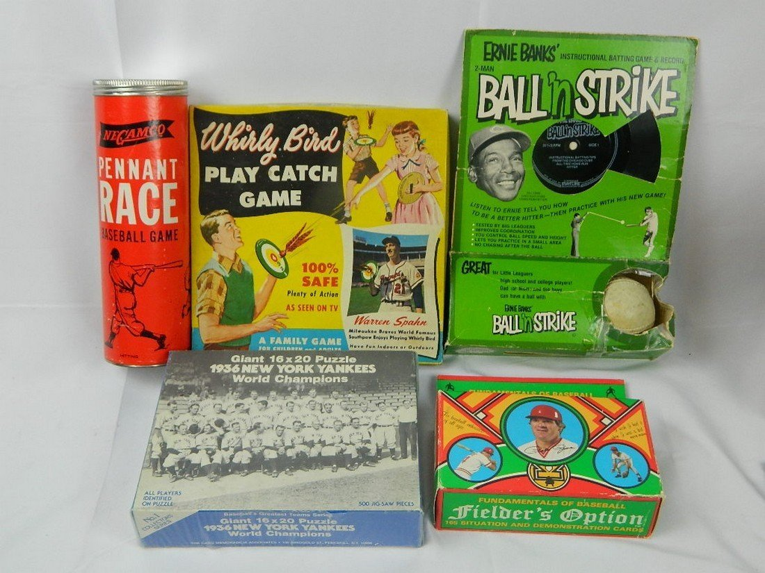 Lot of Vintage Baseball Board Games