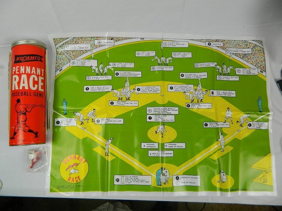 Lot of Vintage Baseball Board Games - 9
