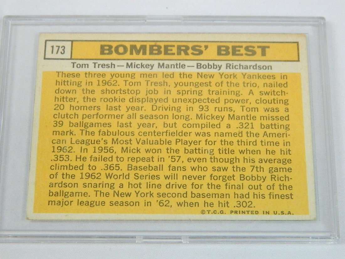 63 Topps Bombers Best Tresh Mantle Richardson - 4