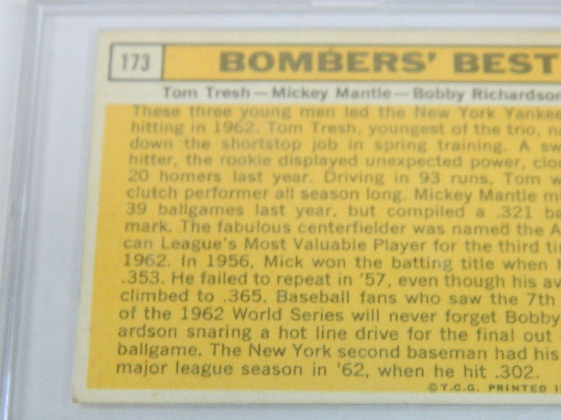 63 Topps Bombers Best Tresh Mantle Richardson - 5