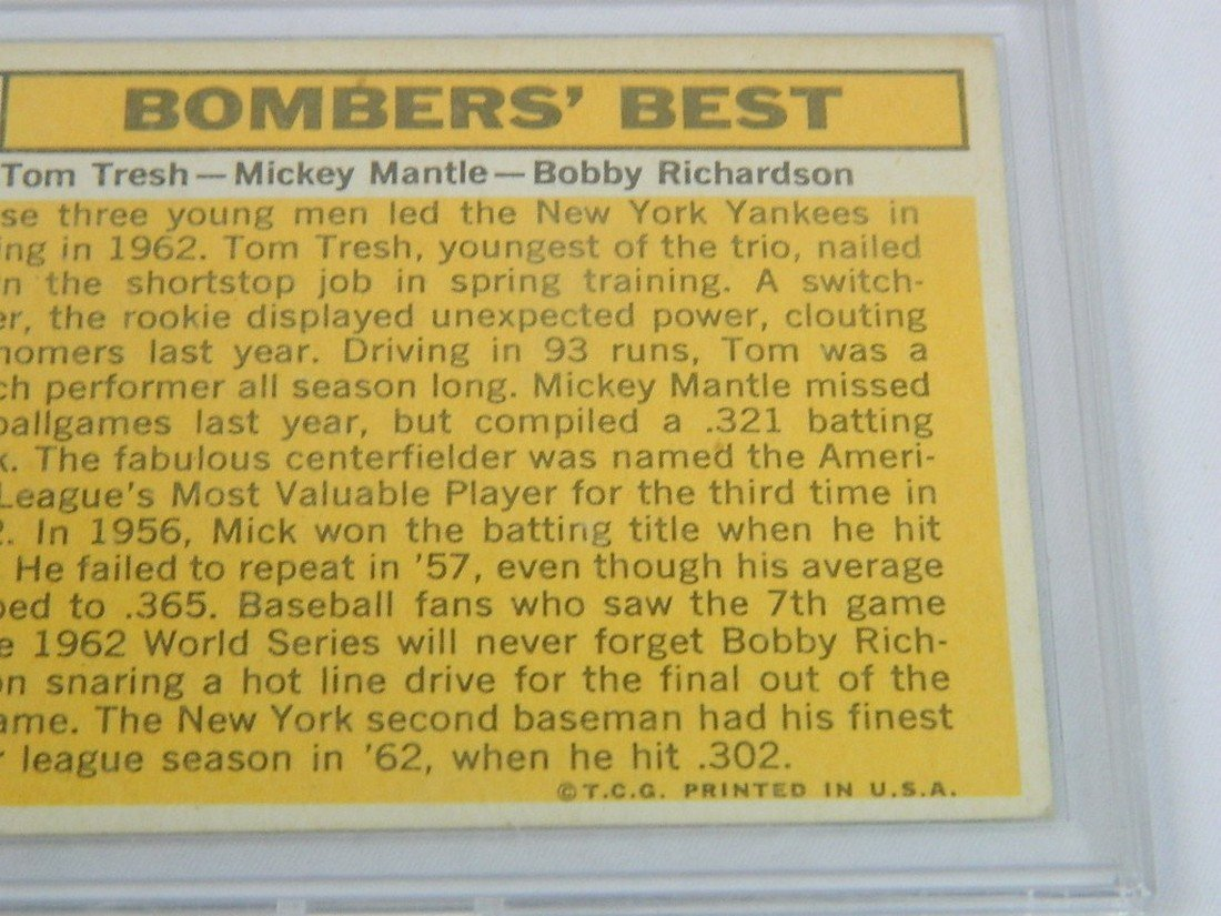 63 Topps Bombers Best Tresh Mantle Richardson - 6