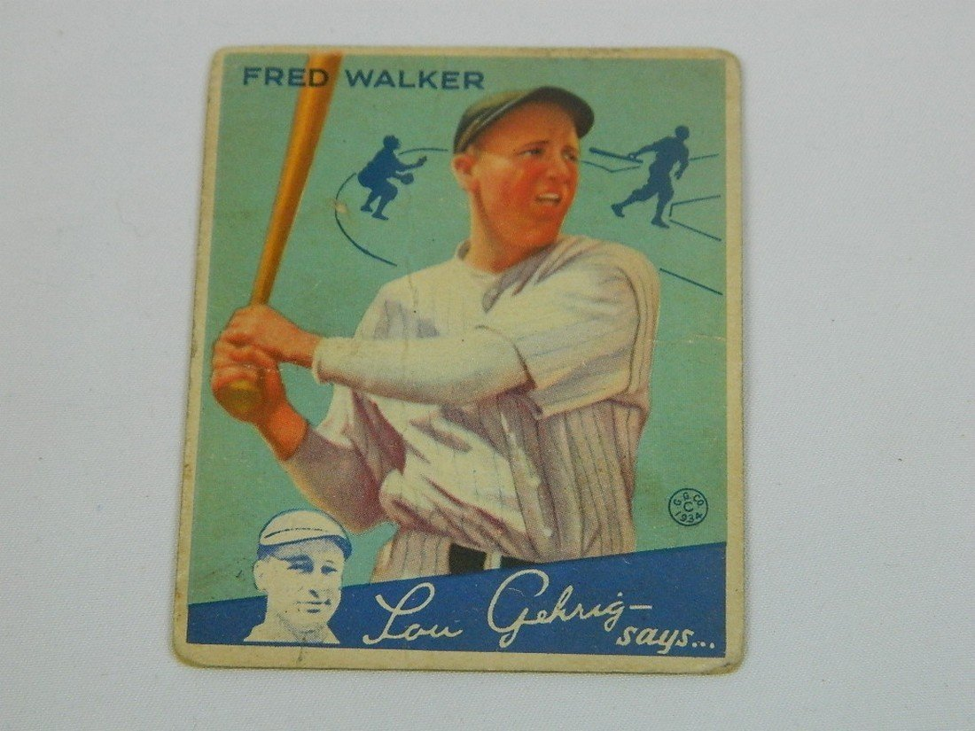 "1934 Goudey Gum Co #39 Fred ""Dixie"" Walker"