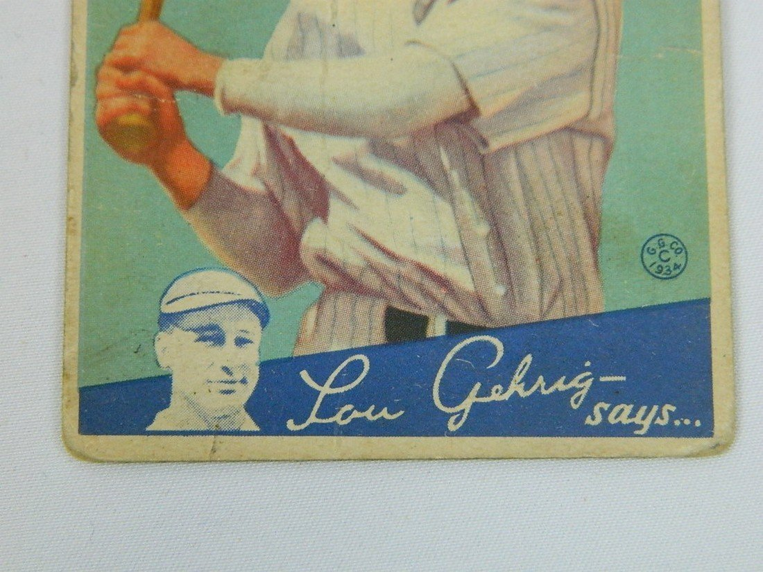 "1934 Goudey Gum Co #39 Fred ""Dixie"" Walker - 3"