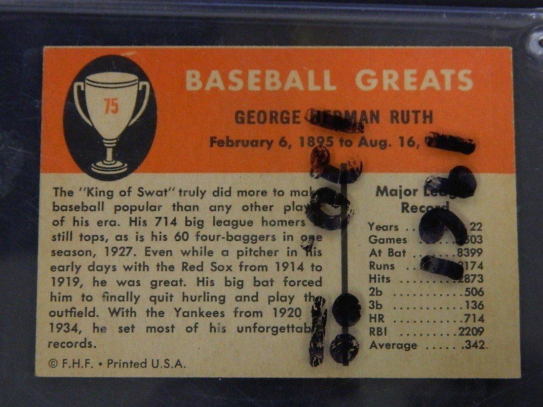 1961 Fleer Babe Ruth New York Yankees #75 - 4