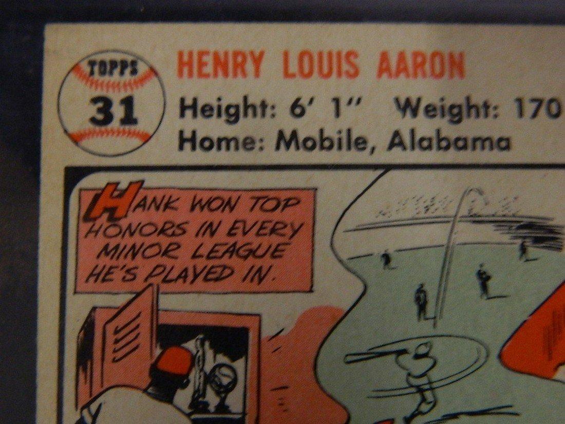 1956 Topps Hank Aaron #31 Baseball Card - 8