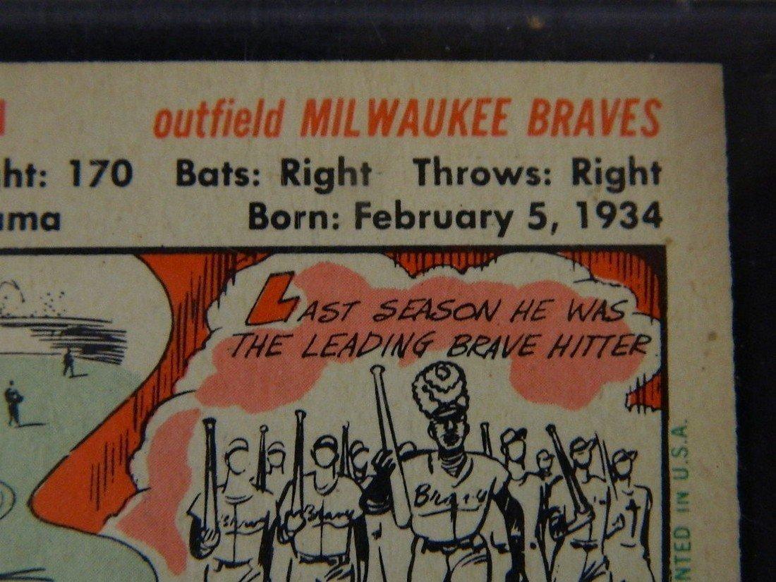 1956 Topps Hank Aaron #31 Baseball Card - 9