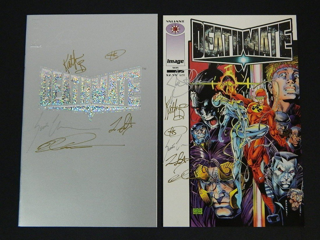 Lot of Rare Autographed Deathmate Comics