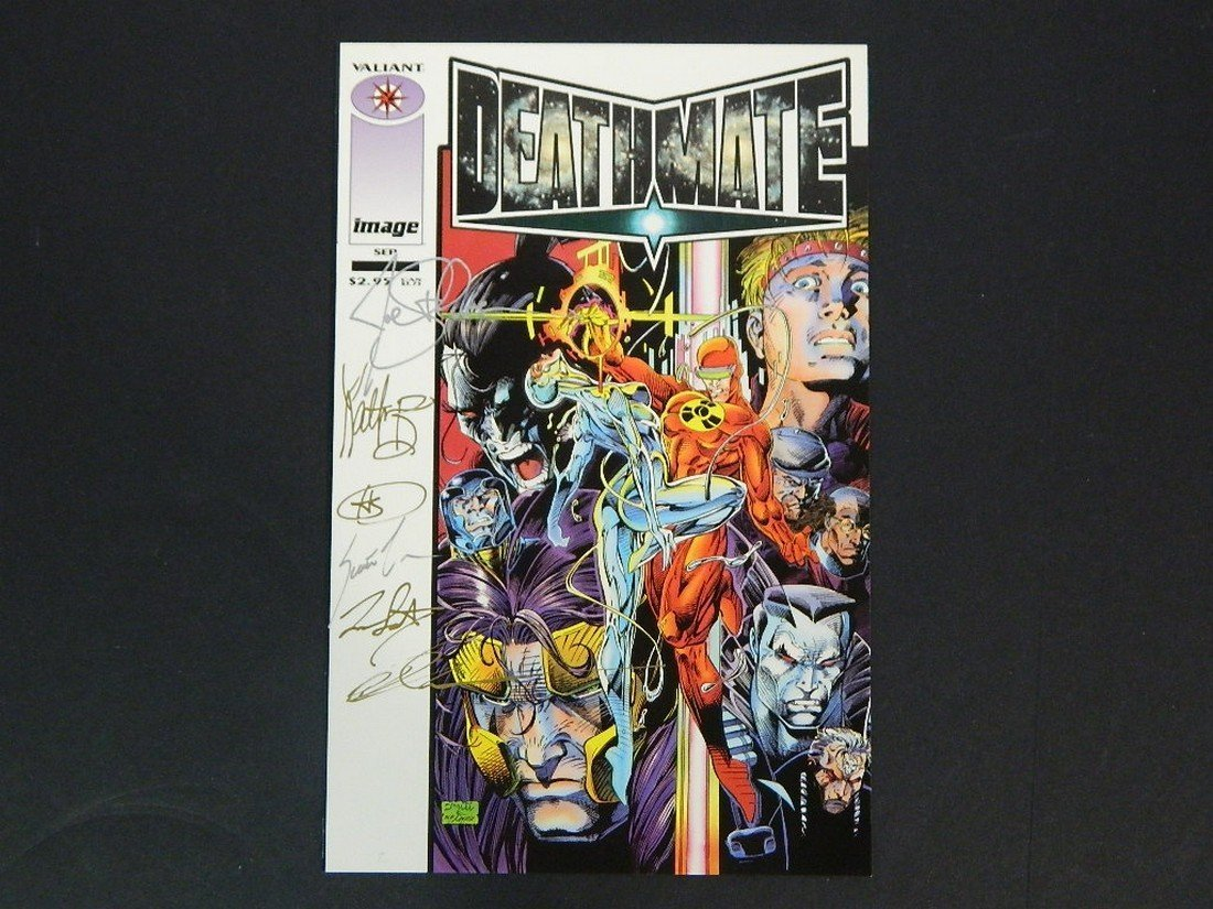 Lot of Rare Autographed Deathmate Comics - 2
