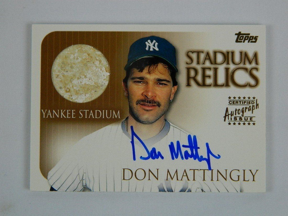 2000 Topps Stadium Relics #Sr1 Don Mattingly