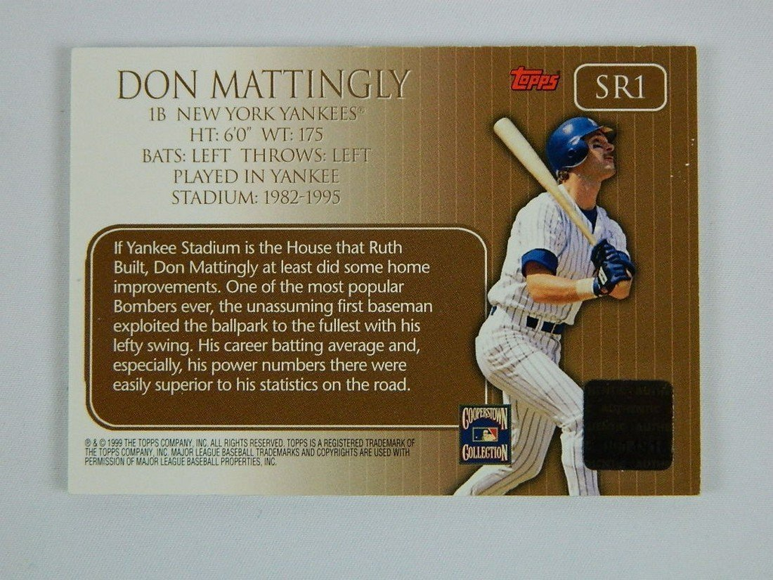 2000 Topps Stadium Relics #Sr1 Don Mattingly - 4
