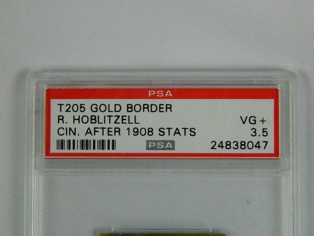 T205 Gold Border R. Hoblitzell PSA Graded VG+ - 3