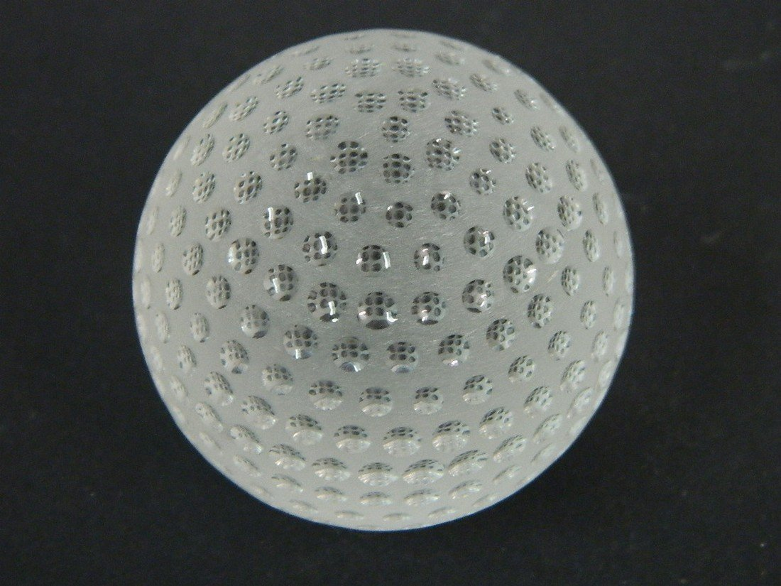 Tiffany & Co. Crystal Golf Ball Paperweight