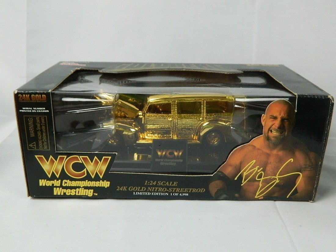 WCW Bill Goldberg 1:24 24K Gold Die Cast Car
