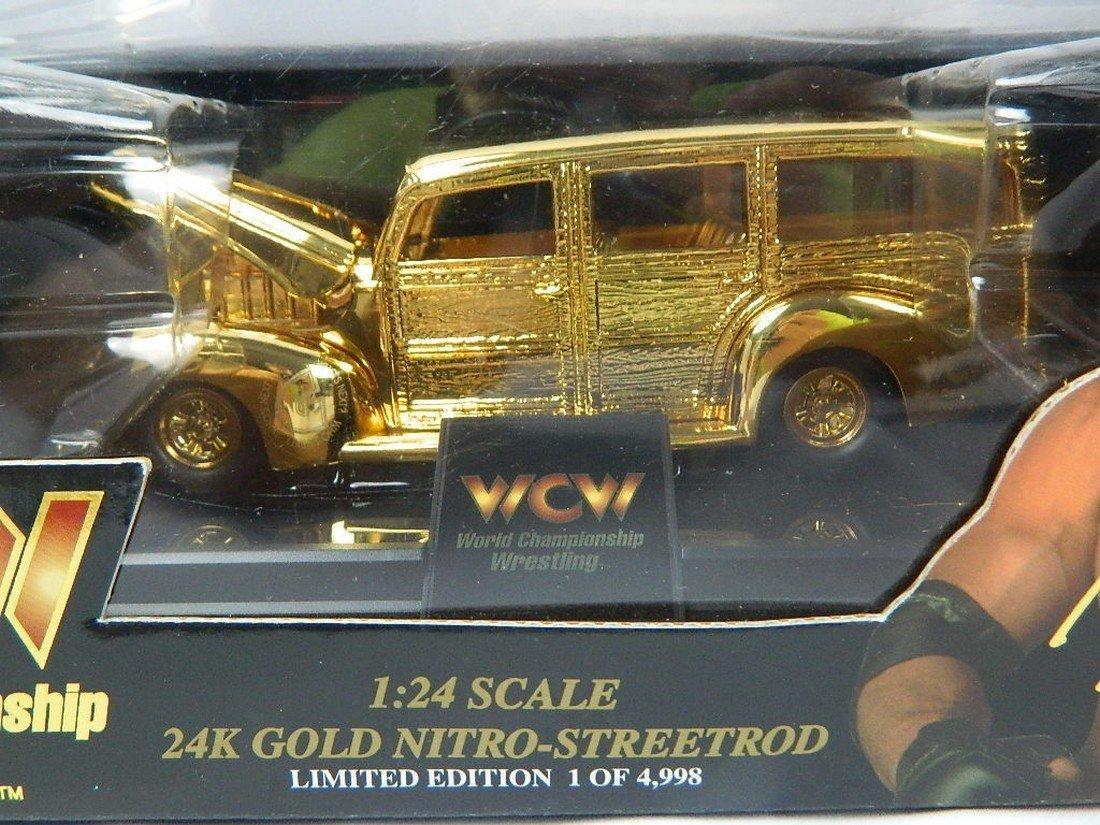 WCW Bill Goldberg 1:24 24K Gold Die Cast Car - 2