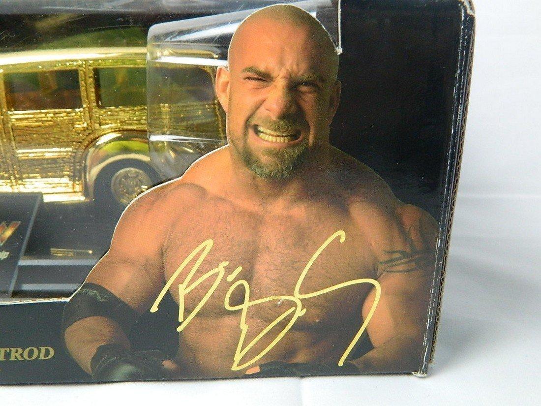 WCW Bill Goldberg 1:24 24K Gold Die Cast Car - 3