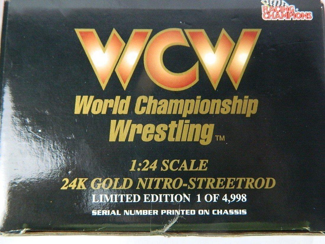 WCW Bill Goldberg 1:24 24K Gold Die Cast Car - 5