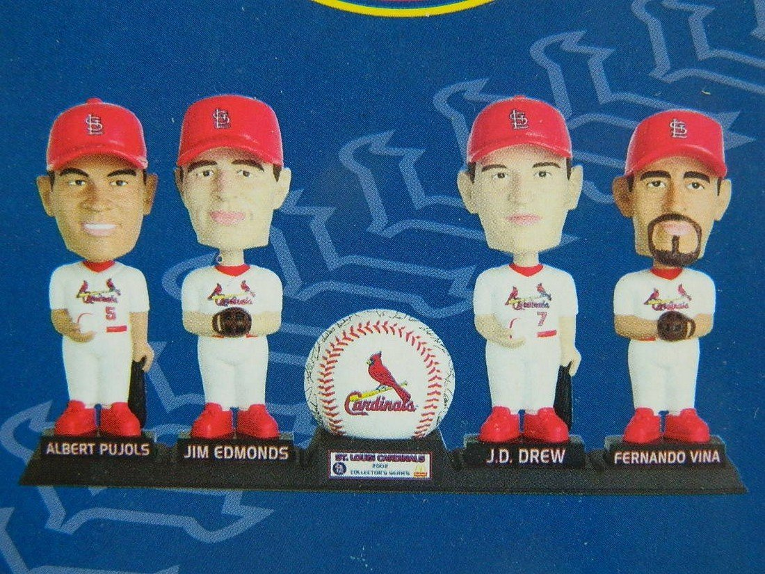 St Louis Cardinals Mcdonalds Bobblehead Set