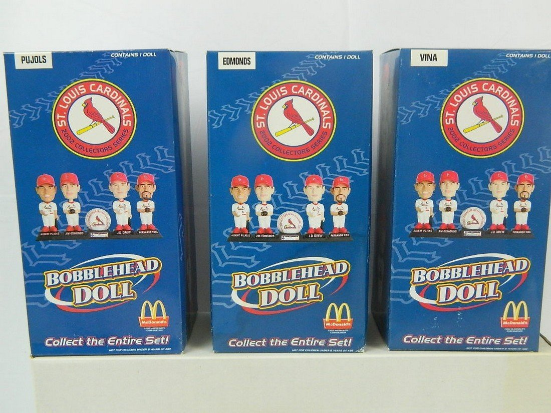 St Louis Cardinals Mcdonalds Bobblehead Set - 3
