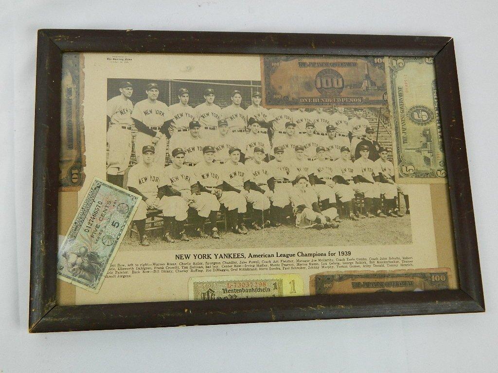 1939 Yankees Sporting News Military Folk Art