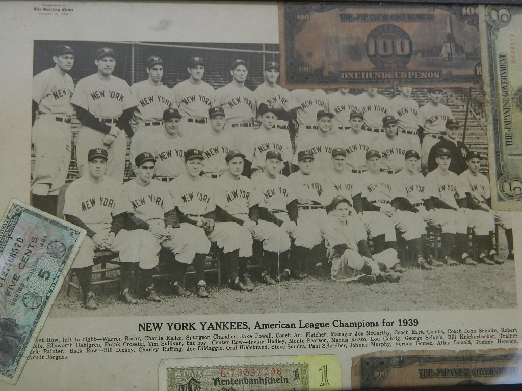 1939 Yankees Sporting News Military Folk Art - 2