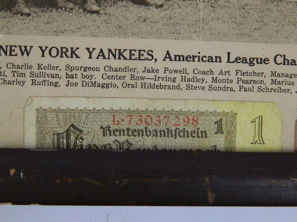 1939 Yankees Sporting News Military Folk Art - 5