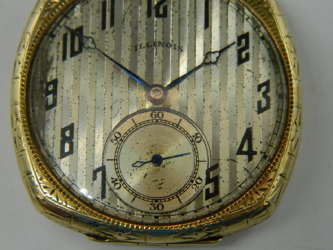 1923 Illinois 17J Pocket Watch 14K Warranted