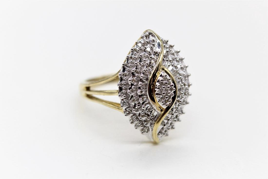10K Diamond  Egyptian Eye Cocktail Ring