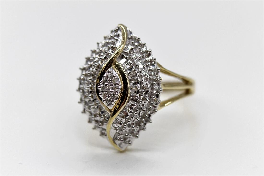 10K Diamond  Egyptian Eye Cocktail Ring - 2