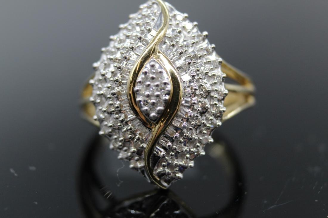 10K Diamond  Egyptian Eye Cocktail Ring - 3