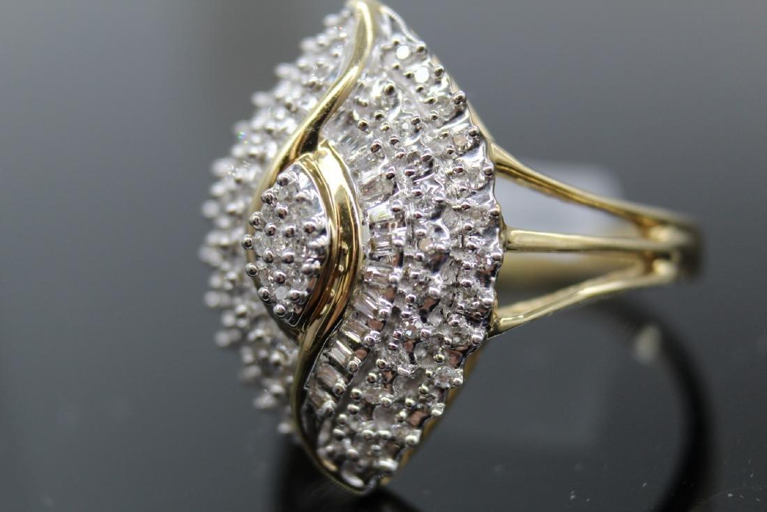 10K Diamond  Egyptian Eye Cocktail Ring - 4