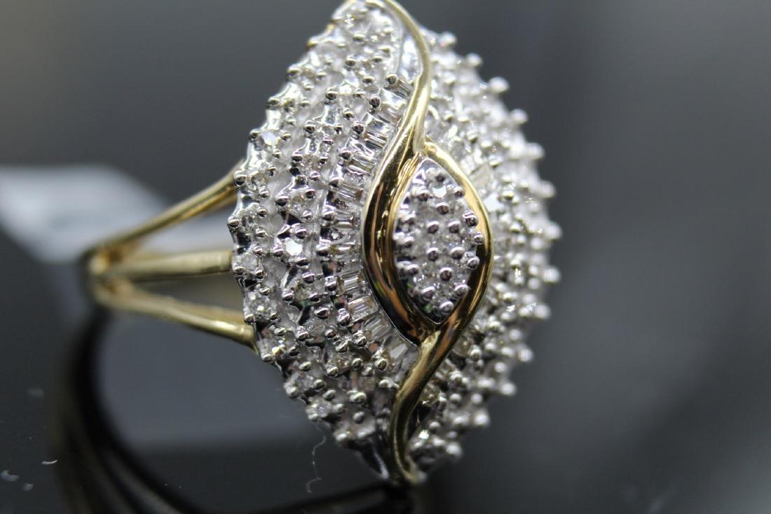 10K Diamond  Egyptian Eye Cocktail Ring - 5