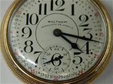 Waltham Vanguard 23 Jewel 10K GF Railroad Pocket Watch