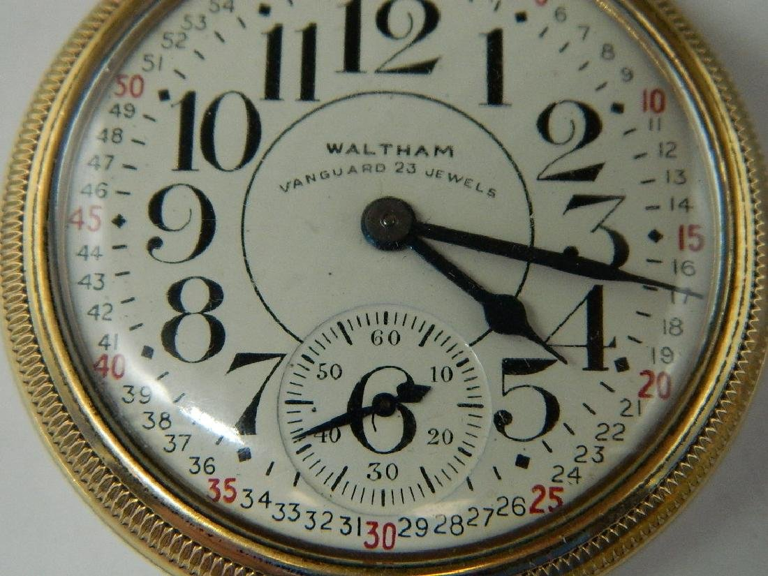 Waltham Vanguard 23 Jewel 10K GF Railroad Pocket Watch