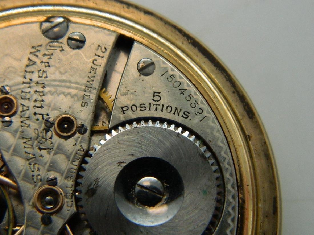 c. 1906 Waltham Model 1899 21 Jewel Openface Pocket - 7