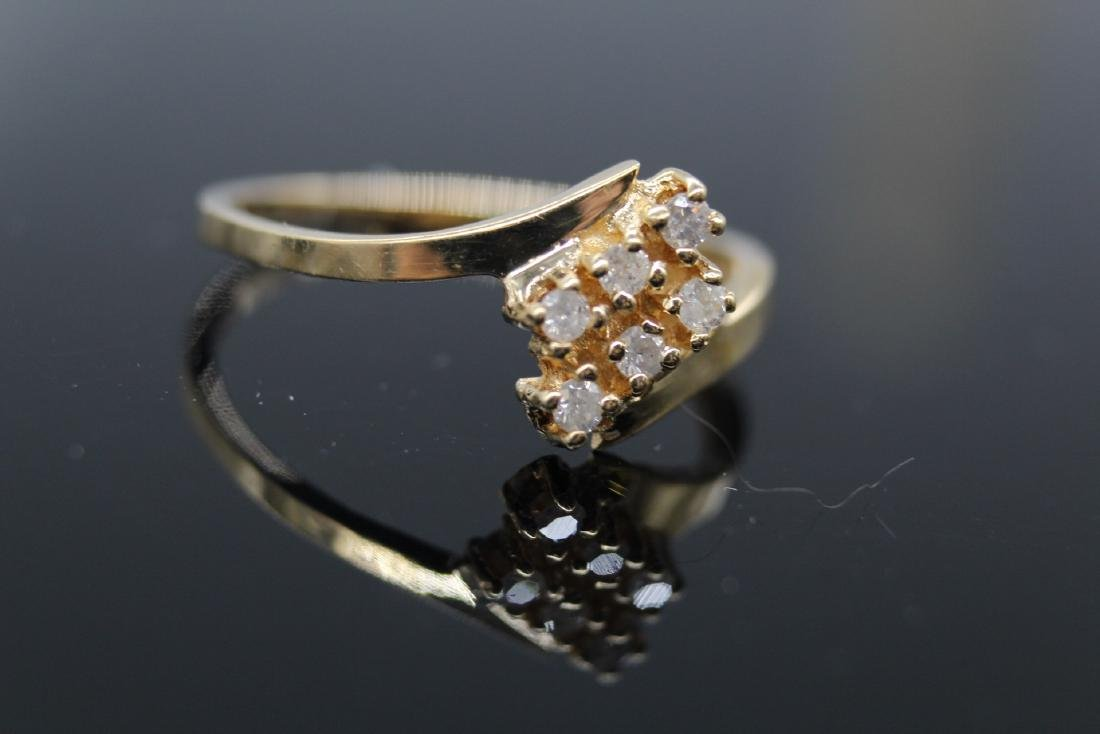 14K Yellow Gold Diamond Ring - 2
