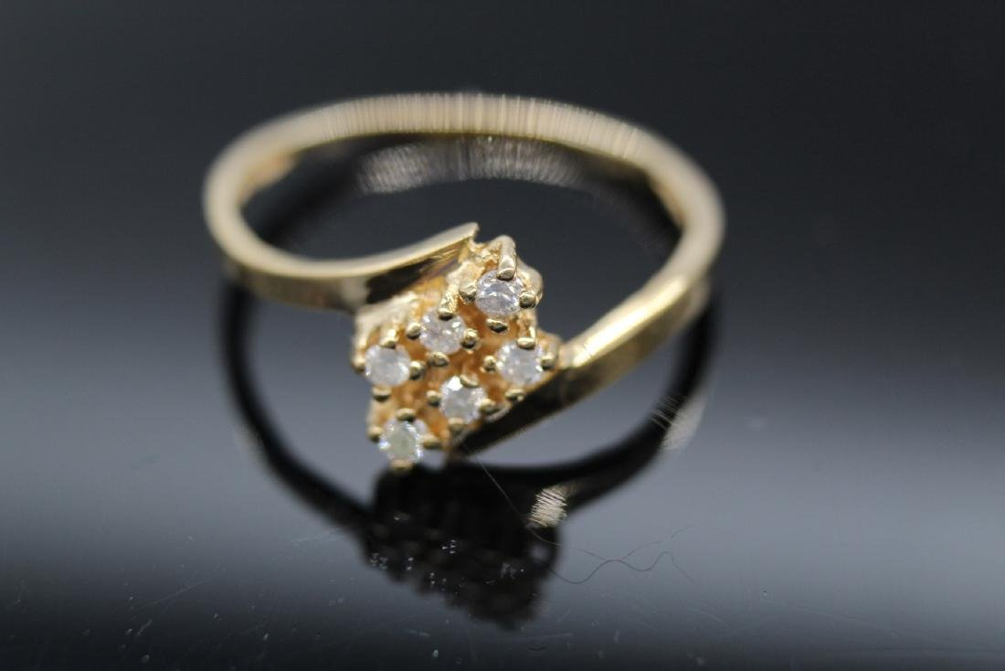 14K Yellow Gold Diamond Ring - 3