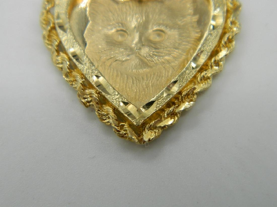 ATTENTION CAT LOVERS! Unique 14k Solid Gold Kitty Cat - 2