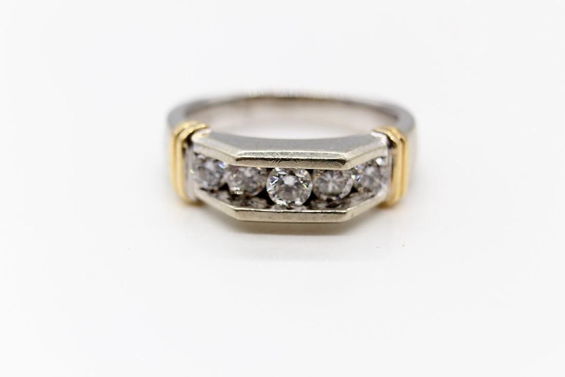 Magnificent! 14K White & Yellow Gold, Diamond Men's