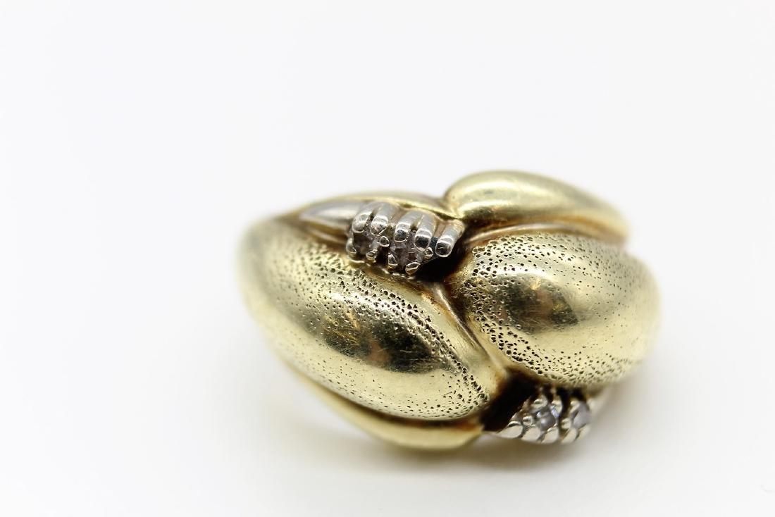 Artistically Custom Crafted 14K Yellow Gold & Diamond