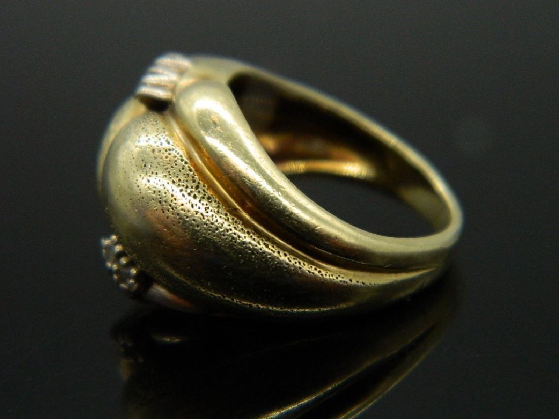 Artistically Custom Crafted 14K Yellow Gold & Diamond - 3