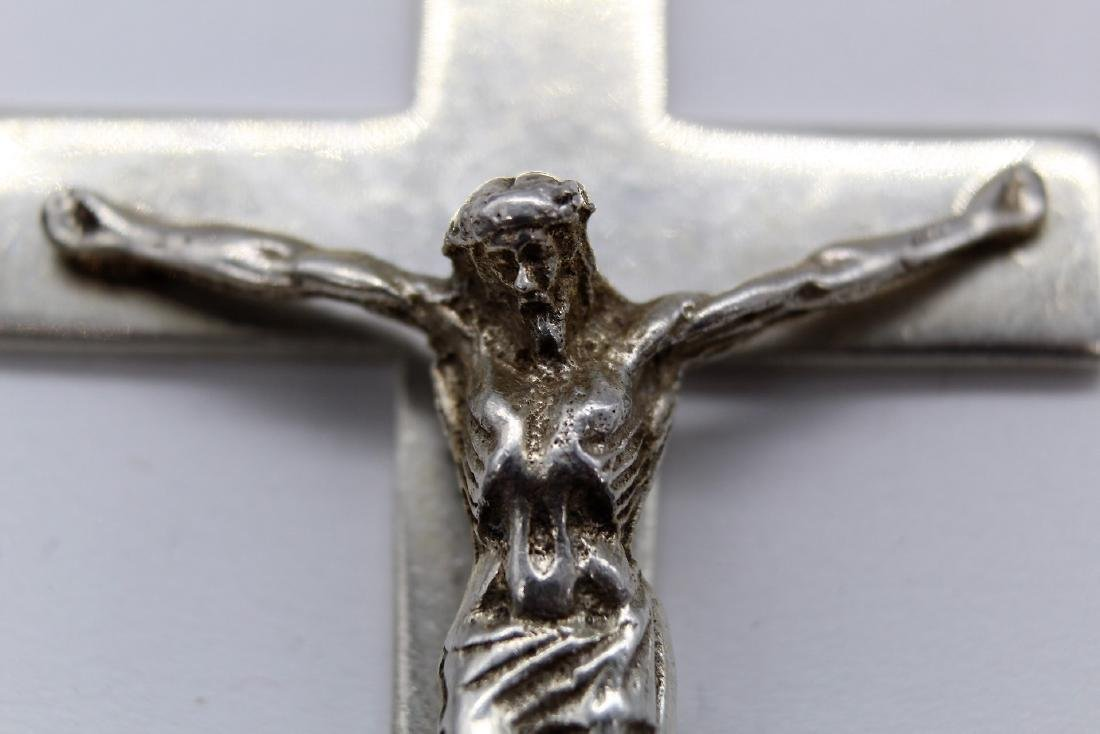 Taxco Large Sterling Silver Crucifix