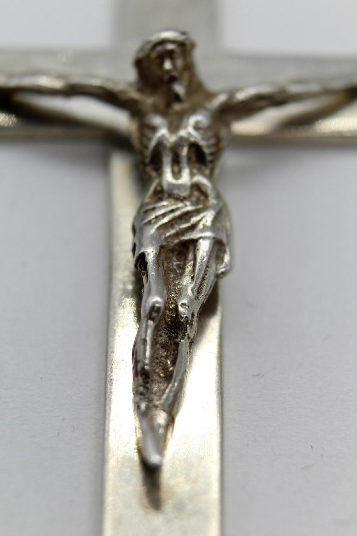 Taxco Large Sterling Silver Crucifix - 2