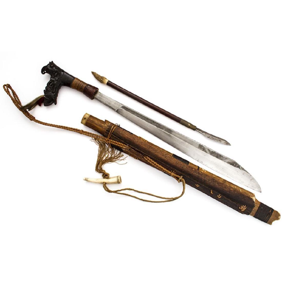 MANDAU SWORD, BORNEO, 19TH C.