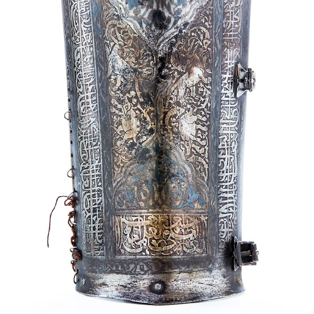BAZU BAND WITH ETCHING, PERSIA, 19 C. - 3