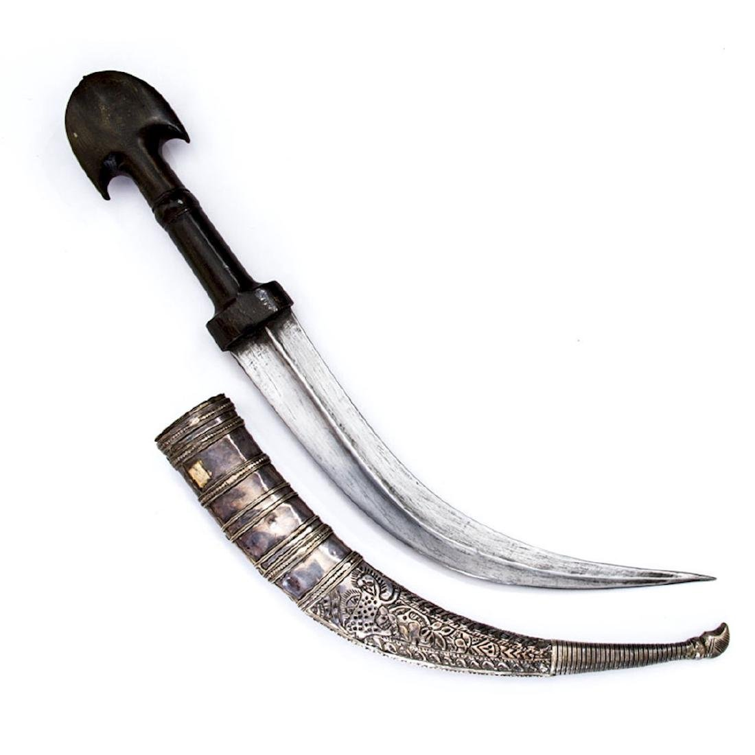 JAMBIYA DAGGER WITH SILVER MOUNTS, TURKEY - 2