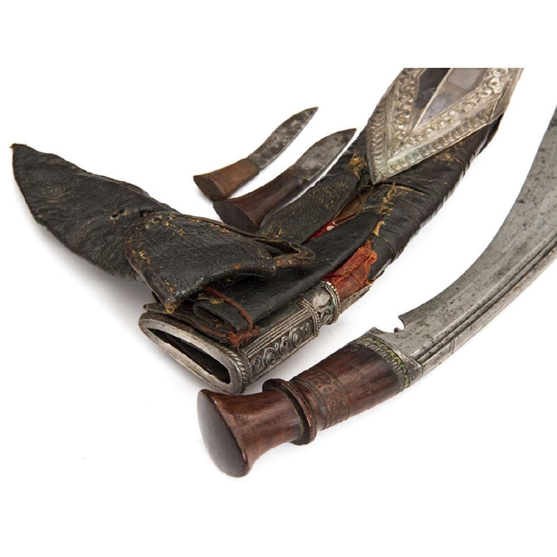 SILVER MOUNTED KUKRI KNIFE, NEPAL, 19TH C. - 8