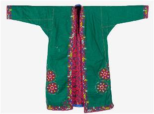 TRADITIONAL ISLAMIC CENTRAL ASIAN WOOL EMBROIDERY COAT